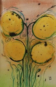 Cocoa tree in yellow: cocoa tree series no.4