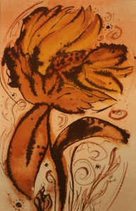 Meditation in the wind: sunflower series