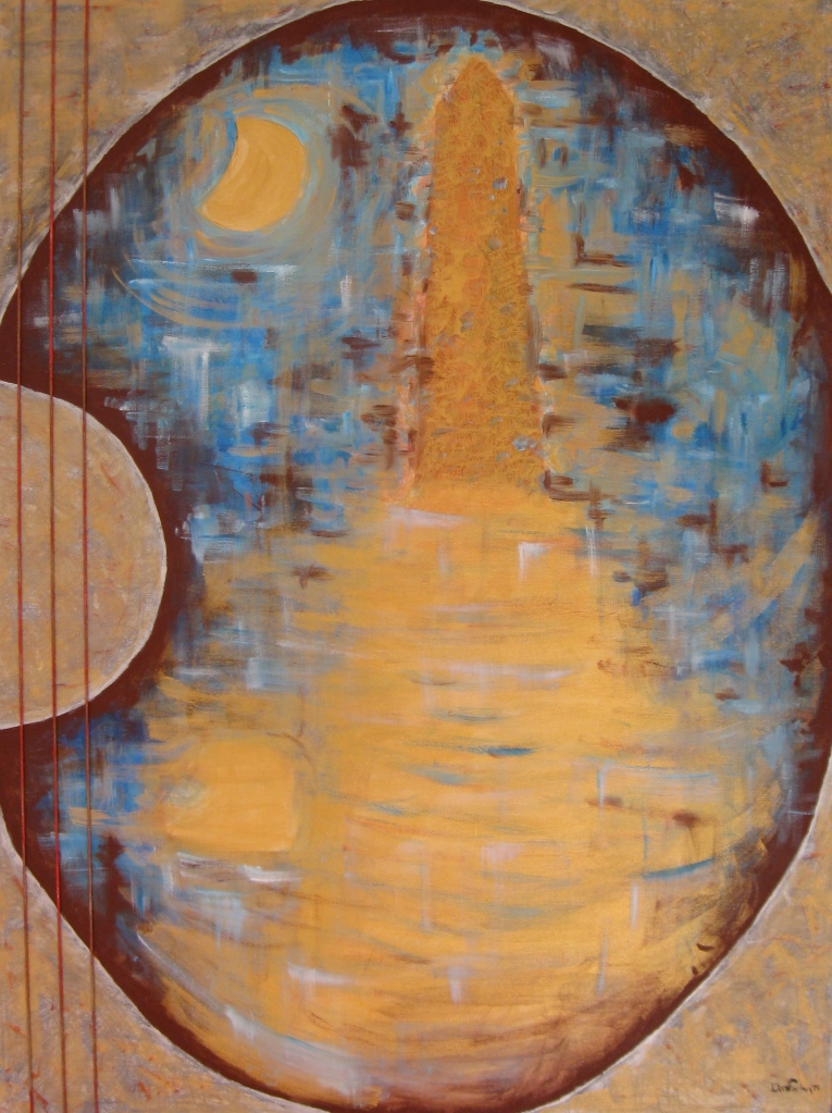 Always and forever: the lighthouse, moon, guitar